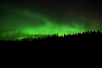 The northern lights flicker of Glacier National Park in Montana.