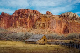 The view of Capitol reef National Park in central Utah