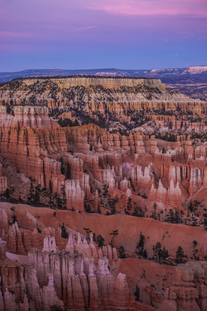 Sunset over Bryce Canyon National Park, Utah
