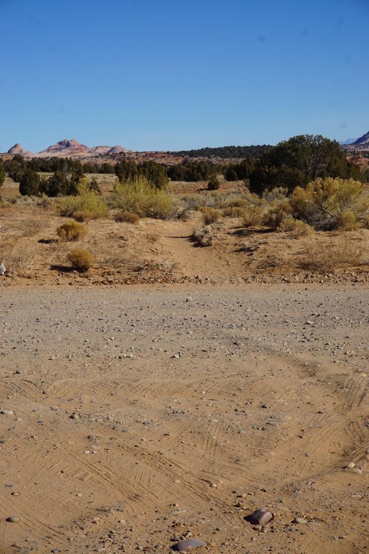 The trailhead for Zebra Slot Canyon.